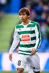 Takashi Inui of SD Eibar in action during the La Liga 2017-18 match between Getafe CF and SD Eibar at Coliseum Alfonso Perez Stadium on 09 December 2017 in Getafe, Spain. Photo by Diego Souto / Power Sport Images