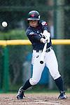 #5 Hiruta Natsuki of Japan bats during the BFA Women's Baseball Asian Cup match between Pakistan and Japan at Sai Tso Wan Recreation Ground on September 4, 2017 in Hong Kong. Photo by Marcio Rodrigo Machado / Power Sport Images