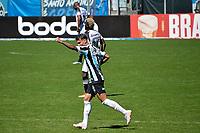 PORTO ALEGRE, RS, 12.09.2021 - GRÊMIO - CEARÁ - O atacante Ferreira, da equipe do Grêmio, comemora o seu gol, na Partida entre Grêmio e Ceará, válida pela 20 a. rodada do Campeonato Brasileiro 2021, no estádio Arena do Grêmio, em Porto Alegre, na manhã deste domingo (12).