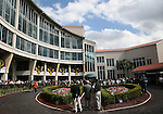 7 February 2009:  The paddock at the Fair Grounds on Risen Star Stakes Day in New Orleans, Louisiana.