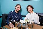 Sergey Udatsov (President of the Tralee Toastmasters) celebrating his birthday with Olga Knutova in Croi on Sunday evening.