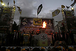 Palestinian supporters of the Fatah movement take part during a rally in Gaza City on December 31, 2017, marking the 53rd anniversary of the creation of the political party. Photo by Mohammed Dahman
