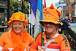 Dutch fans enjoying the Men Elite Individual Time Trial of the UCI World Championships 2019 running 54km from Northallerton to Harrogate, England. 25th September 2019.<br /> Picture: Andy Brady | Cyclefile<br /> <br /> All photos usage must carry mandatory copyright credit (© Cyclefile | Andy Brady)