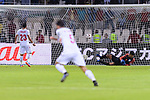 Goalkeeper Gurpreet Singh Sandhu of India (R) fails to save the ball scored by Jamal Rashed Abdulrahman of Bahrain (L) during the AFC Asian Cup UAE 2019 Group A match between India (IND) and Bahrain (BHR) at Sharjah Stadium on 14 January 2019 in Sharjah, United Arab Emirates. Photo by Marcio Rodrigo Machado / Power Sport Images