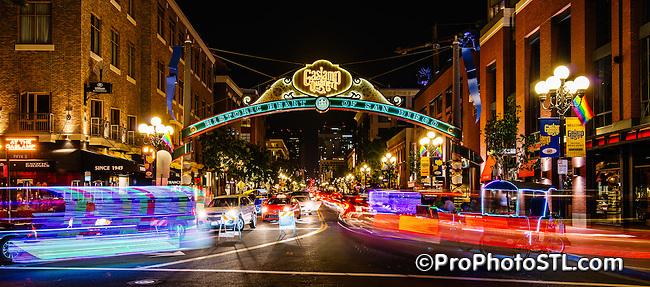 Gaslight Quarter in San Diego, California