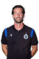 20th August 2020, Brugge, Belgium;  Rik De Mil pictured during the team photo shoot of Club Brugge NXT prior the Proximus league football season 2020 - 2021 at the Belfius Base camp