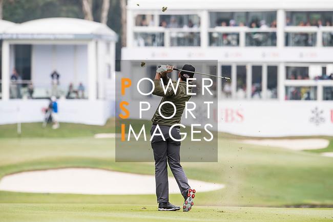 Rafa Cabrera Bello of Spain tees off during the day three of UBS Hong Kong Open 2017 at the Hong Kong Golf Club on 25 November 2017, in Hong Kong, Hong Kong. Photo by Marcio Rodrigo Machado / Power Sport Images