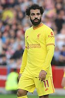 Mo Salah of Liverpool during Brentford vs Liverpool, Premier League Football at the Brentford Community Stadium on 25th September 2021