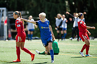 Seattle, WA - Saturday May 13, 2017: Megan Rapinoe during a regular season National Women's Soccer League (NWSL) match between the Seattle Reign FC and the Washington Spirit at Memorial Stadium.