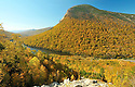 Cannon Mt. and Profile Lake in New Hampshires Franconia Notch State Park.