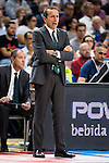 Unicaja Malaga's coach Joan Plaza during match of Liga Endesa at Barclaycard Center in Madrid. September 30, Spain. 2016. (ALTERPHOTOS/BorjaB.Hojas)