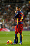 Barcelona´s Neymar Jr during 2015-16 La Liga match between Real Madrid and Barcelona at Santiago Bernabeu stadium in Madrid, Spain. November 21, 2015. (ALTERPHOTOS/Victor Blanco)