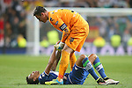 WfL Wolfsburg's Luiz Gustavo (d) and Diego Benaglio dejected after Champions League 2015/2016 Quarter-finals 2nd leg match. April 12,2016. (ALTERPHOTOS/Acero)