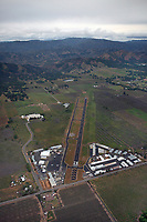 aerial photograph of Lampson Field airport (1O2), Lakeport, Lake County, California