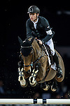 Scott Brash of United Kingdom rides Hello M'Lady in action at the Longines Grand Prix during the Longines Hong Kong Masters 2015 at the AsiaWorld Expo on 15 February 2015 in Hong Kong, China. Photo by Juan Flor / Power Sport Images
