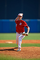 Bradley Braves pitcher Jed Moscot (43) during a game against the Dartmouth Big Green on March 21, 2019 at Chain of Lakes Stadium in Winter Haven, Florida.  Bradley defeated Dartmouth 6-3.  (Mike Janes/Four Seam Images)