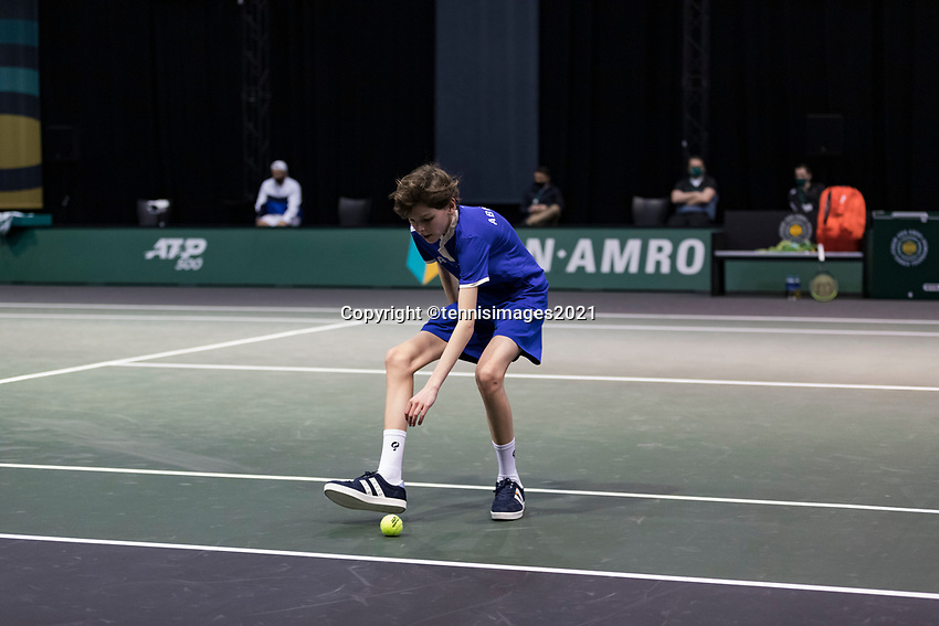 Rotterdam, The Netherlands, 2 march  2021, ABNAMRO World Tennis Tournament, Ahoy, First round match: Jeremy Chardy (FRA) Ugo Humbert (FRA).<br /> Photo: www.tennisimages.com/henkkoster