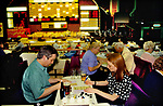 Bingo UK couple playing Bingo Club drinking beer north London. 1990s 90s