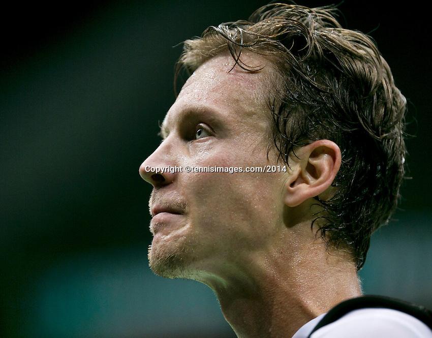10-02-14, Netherlands,Rotterdam,Ahoy, ABNAMROWTT, Tomas Berdych(CZE)<br /> Photo:Tennisimages/Henk Koster