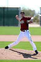 Chase Anderson of the Arizona Diamondbacks participates in spring training workouts at Salt River Fields on February 12, 2014 in Scottsdale, Arizona (Bill Mitchell)