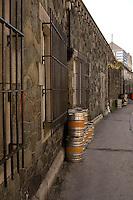 Draft Beer Kegs in a back alley Galway Ireland