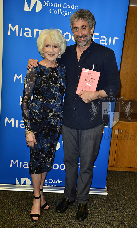 """MIAMI, FL - FEBRUARY 06: Radio host/author Diane Rehm and Mitchell Kaplan during Diane Rehm signing of her new book """"When My Time Comes"""" Presented in collaboration with Miami Book Fair and Books and Books at Miami Dade College-Wolfson Auditorium on February 6, 2020 in Miami, Florida.   ( Photo by Johnny Louis / jlnphotography.com )"""