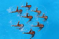 BARRANQUILLA - COLOMBIA, 30-07-2018: Equipo de Cuba, durante su participación en Nado Sincronizado, en el Complejo Acuático Distrital Eduardo Movilla, como parte de los Juegos Centroamericanos y del Caribe Barranquilla 2018. / Team of Cuba, during their participation in Synchronized Swimming, in the Eduardo Movilla District Aquatic Complex, as a part of the Central American and Caribbean Sports Games Barranquilla 2018. Photo: VizzorImage / Cont.