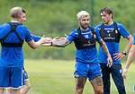St Johnstone Training….29.06.19   McDiarmid Park, Perth<br />Richard Foster, Murray Davidson, Steven Anderson and Michael O'Halloran give a well done to each other after completing pre-season training runs<br />Picture by Graeme Hart.<br />Copyright Perthshire Picture Agency<br />Tel: 01738 623350  Mobile: 07990 594431