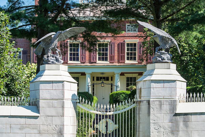 Smithville Mansion, Smithville industrial park, Burlington County, New Jersey, USA