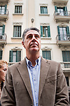 Garcia Albiol, President of the Popular Party of Badalona, ​​visits the police headquarters to support them and take interest in the injured agentsagentsOctober 21, 2019. <br /> (ALTERPHOTOS/ David Jar)