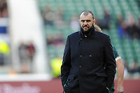 Michael Cheika, Australia Head Coach, during the Old Mutual Wealth Series match between England and Australia at Twickenham Stadium on Saturday 3rd December 2016 (Photo by Rob Munro)