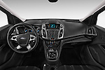 Straight dashboard view of a 2014 Ford Transit Connect Trend 5 Door Minivan 2WD