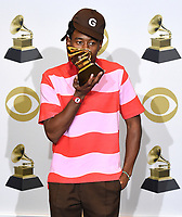 LOS ANGELES - JANUARY 26: Tyler, the Creator wins the Best Rap Album award for 'Igor'  at the 62nd Annual Grammy Awards at Staples Center on January 26, 2020 in Los Angeles, California. (Photo by Frank Micelotta/PictureGroup)