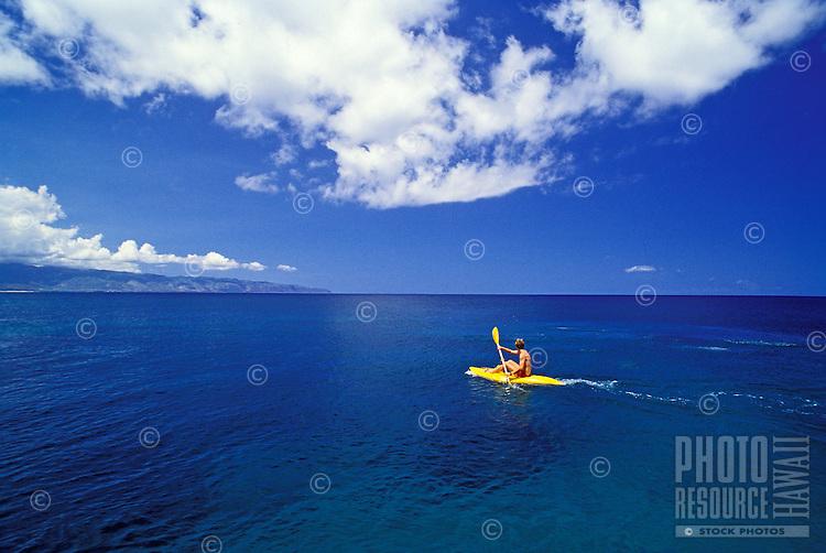 Kayaking near Shark's Cove, North Shore, Oahu