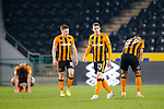 Disappointed Hull players at full time. Hull 2 Sunderland 2, League One 20th April 2021.