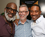 Bebe Winans, Sam Rudy and Charles Randolph-Wright during the Retirement Celebration for Sam Rudy at Rosie's Theater Kids on July 17, 2019 in New York City.