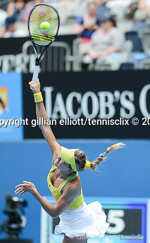 Maria Kirilenko (RUS) wins at Australian Open in Melbourne Australia on 17th January 2013
