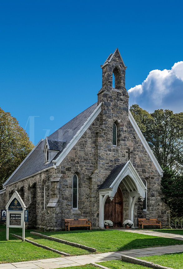 Charming Calvery Church, Stonington, Rhode Island, USA.