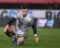 2nd January 2021; Kingsholm Stadium, Gloucester, Gloucestershire, England; English Premiership Rugby, Gloucester versus Sale Sharks; AJ MacGinty of Sale Sharks fumbles the ball