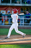Sam McDonnell (7) of the Orem Owlz at bat against the Grand Junction Rockies in Pioneer League action at Home of the Owlz on July 7, 2016 in Orem, Utah. The Owlz defeated the Rockies 15-3. (Stephen Smith/Four Seam Images)