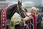 SHA TIN,HONG KONG-MAY 01: Chautauqua ,ridden by Tommy Berry ,wins the Chairman's Sprint Prize  at Sha Tin Racecourse on May 01,2016 in Sha Tin,New Territories,Hong Kong (Photo by Kaz Ishida/Eclipse Sportswire/Getty Images)