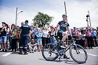 Irish sprinter Sam Bennett (IRL/Bora-Hansgrohe) at the stage start in the tiny birth town of Fausto Coppi: Castellania<br /> <br /> 100th Giro d'Italia 2017<br /> Stage 14: Castellania › Oropa (131km)