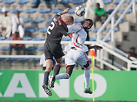 Jared Watts goes up for the header. US Men's National Team Under 17 defeated Malawi 1-0 in the second game of the FIFA 2009 Under-17 World Cup at Sani Abacha Stadium in Kano, Nigeria on October 29, 2009.