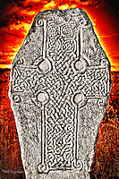 Situated on the shores of Loch Kinnord the ancient Kinnord Stone is a superb example of a Pictish Cross Slab thought to date back to the 9th century.<br /> <br /> dsider.co.uk,Bill Bagshaw