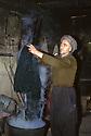 Iran 1975.Mahabad: Man in his shop dyeing wool  Iran 1975 Homme dans sa boutique de Mahabad teignant de la laine