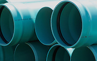 Stack of Green Water PIpes