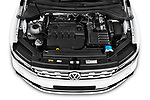 Car stock 2019 Volkswagen Tiguan Highline 5 Door SUV engine high angle detail view