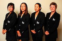 NZ women, from left, Cecelia Cho, Lydia Ko, Liv Cheng and Erin Hawe. Trans-Tasman NZ teams at Royal Wellington Golf Club, Wellington, New Zealand on Sunday, 28 March 2010. Photo: Dave Lintott / lintottphoto.co.nz