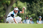 Ian Poulter from England plans his next shot during Hong Kong Open golf tournament at the Fanling golf course on 22 October 2015 in Hong Kong, China. Photo by Xaume Olleros / Power Sport Images