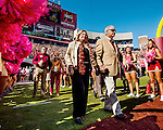 Long time FSU football coach Bobby Bowden and his wife Ann enter the field for the first time in 4 years on Bobby Bowden day prior to the Florida State Seminoles defeating the North Carolina State Wolfpack 49-17 in their NCAA football game  in Tallahassee, Florida.